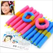 Demarkt 12pcs Large Bendy Twist Safe Hair Hairdressing Rollers Foam Curlers
