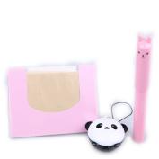 BUNDLE-TONYMOLY Petite Bunny Gloss Bar #1 juicy strawberry + TONYMOLY Panda's Dream Pocket Lip Balm + KBeautyBundle Premium Natural Hemp Paper Blotters