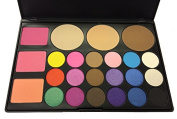 GISELLE COSMETICS ALL IN ONE PALETTE WITH BLUSH, BRONZER AND EYE SHADOWS HIGHLY PIGMENTED