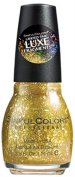 Sinful Colours Monochromatic Luxe Fragment Glitter Nail Polish #2096 Gold a la Mode - 15ml