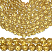 GLASS BEADS ROUND FACETED 4mm LIGHT TAN BROWN strand SALE