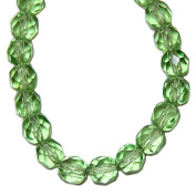 GLASS BEADS jewellery MAKING SUPPLIES ROUND FACETED 5.5mm LIGHT MINT GREEN strand