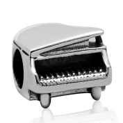 Artbeads Jewellery Refinement Piano Charms Beads 925 Sterling Silver Fine Music Charms