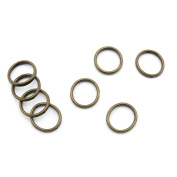 300 PCS Jewellery Making Charms Findings Supply Supplies Crafting Lots Bulk Wholesale Antique Bronze Tone Plated N5GM7 Jump Ring 18mm