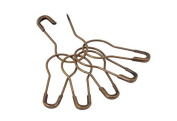 500PCS Metal Thick Gourd Safety Pins Clothing Tag Pins Trimming Fastening Safety Locking Clip Buttons DIY Home Accessories
