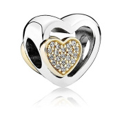 Authentic Pandora Sterling Silver 925 & 14K Joined Together Bead 791806CZ supplier_pdaveb