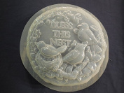 Bird Bless this Nest Stepping Stone Concrete or Plaster Mould 1333