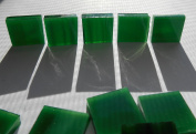 FortySevenGems 100 Pieces Stained Glass Mosaic Tiles 1.3cm Dark Green White Swirl Glass Textured
