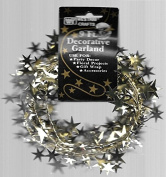 2.7m Decorative Star Garland Gold