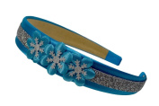 Frozen Princess Inspired Sparkling Satin Flower Headband