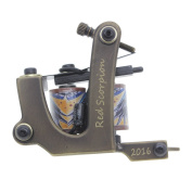 Redscorpion 10 Wrap Shader Tattoo Machine Gun Brass Frame for Tattoo Supplies