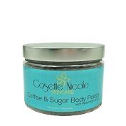 Coffee & Sugar Body Polish and Face Mask ~ ALL-NATURAL multi-benefit brown sugar body scrub, facial scrub and face mask ~ 400mls