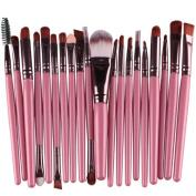 DaySeventh 20 pcs Makeup Brush Set tools Toiletry Kit Wool Make Up Brush Set Fashion