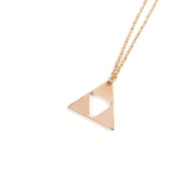 Doinshop Women Triangle Legend of Zelda Triforce Costume Alloy Pendant Necklace