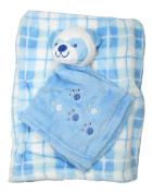 Little Beginnings Plush Blanket and Panda Lovie One Size Blue