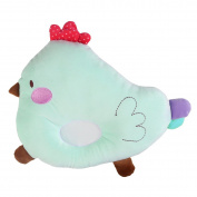 crownroyaljack Baby Positioner Pillow Chicken Design Velvet Protective Sleeping Pillows, Green