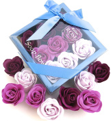 Purple Rose bath bombs, Colourful Charming Rose Flower, lovely gift for christmas, all purple,