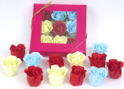 Valentine gift, Rose bath bombs, Nine Colourful Charming Rose bath bombs, 17go