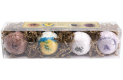MakersKit All-Natual Bath Bomb Collection- 4 Large Bath Bombs Made with Organic Shea Butter