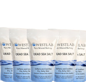 Westlab Dead Sea Salt Mineral Bathing 5 Pack (5kg) Soothing Relief