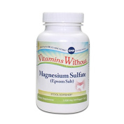 Magnesium Sulphate USP (Epsom Salts), Constipation Relief, 1030mg, 100 Vegetarian Capsules