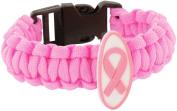 Breast Cancer Awareness Parachute Bracelet Pink Ribbon Symbol