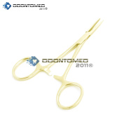 OdontoMed2011 HEMOSTAT FORCEPS BODY jewellery PIERCING TOOL GOLD PLATED QUALITY INSTRUMENTS