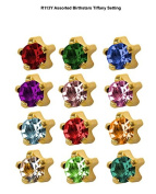 assorted birthstars ear piercing studs