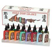 Kuro Sumi Tattoo Ink Set, Colour 16