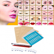 DZT1968 Permanent 3D Eyebrow Tattoo Pen Makeup Microblading Practise Kit Set