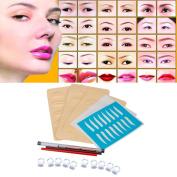 DZT1968 Permanent 3D Eyebrow Tattoo Pen Makeup Microblading Practise Kit Set