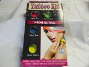 Neon Glitter Tattoo Kit