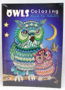 Oceanis Adult and Teen Colouring Book Hoot Owls Bird Theme for Fun and Relaxation