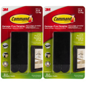 Command 3M 12ct Pack Picture & Frame Hanging Strips Sets Large Size Black Damage-Free