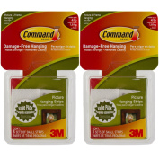 Command 3M 16ct Pack Picture & Frame Hanging Strips Sets Small Size White Damage-Free