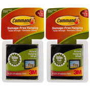 Command 3M 12ct Pack Picture & Frame Hanging Strip Sets Medium Size Black Damage-Free