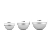 AMILE 12 Pcs DIY Metal Bath Bomb Moulds, with 3 Sizes(4.5cm/ 5.5cm/ 6.5 cm),For Crafting Your Own Fizzles