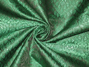 Brocade Fabric Black & Green Colour 110cm Hobbies,Home decor,Sewing,Fashion,Doll Dress,Furnishing,Interior.