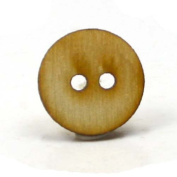 Mylittlewoodshop - Pkg of 26 - Button - 3/4 inches in diameter with 2 2mm holes and 1/8 inch thick unfinished wood