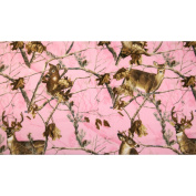 Realtree Pink Deer Allover Print Fabric By The Yard