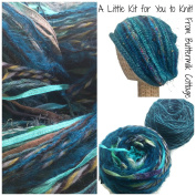 Boutique Yarn Slouchy Hat Knitting Kit Teal