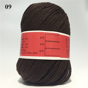 Soft Silk Fibre Cashmere Wool Yarns For Kids Eco-friendly Dyed Baby Yarn For Knitting 10 Balls 500g/lot Colour 9