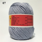 Soft Silk Fibre Cashmere Wool Yarns For Kids Eco-friendly Dyed Baby Yarn For Knitting Wholesale 50g/ball Colour 7