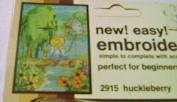 Vintage Open Door Embroiderette Beginner Kit Huckleberry 5 x 7