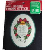 Designs for the Needle Oval Peace Counted Cross Stitch Kit 4109