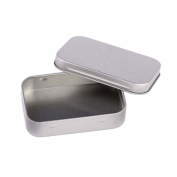Rely2016 Simple Design Empty Metal Jewellery Box Small Silver Colour Iron Box Organiser Home Box Storage for Coin, Keys, Earring Ring