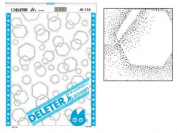 "Deleter Screen Tone Jr JR-156 [ Hexagon Pattern ] [Sheet Size 182x253mm (7.16""x9.96"")] For Comic Manga Illustration"