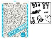 "Deleter Screen Tone Jr JR-150 [Zoo Animal Pattern][Sheet Size 182x253mm (7.16""x9.96"")] For Comic Manga Illustration Graphic Screentone"