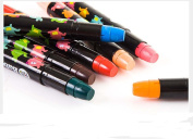 Bbshop 6 Colours Non-toxic Washable Silky Crayon Painting Stick Easy Clean Lipstick Rotating Crayons & Markers