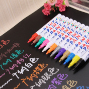 Excellent.advanced 12Pcs Permanent Waterproof Paint Marker Pen Oil Based Medium Point Fast-Dry Ink